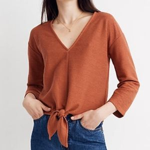 Madewell Texture and Thread Cropped Tie Top